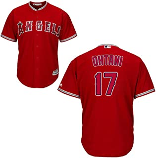 Shohei Ohtani Los Angeles Angels #17 MLB Youth Alternate Jersey Red (Youth Small 8)