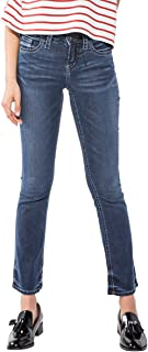 Silver Jeans Co. Women's Aiko Mid Rise Slim Bootcut Jeans
