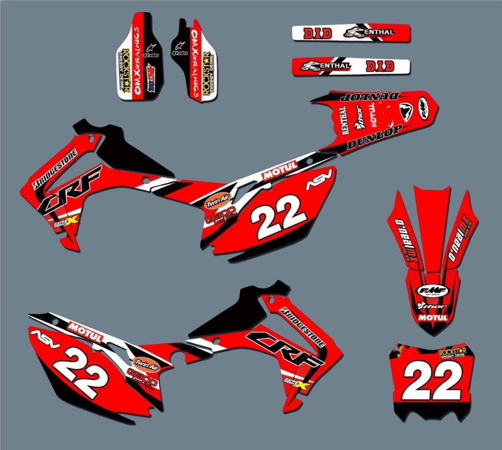 KINWAT Team Graphics Max 90% OFF Decals Stickers for Popular product Kits CRF450R CRF4 Honda