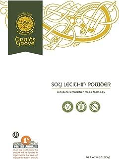 Druids Grove Soy Lecithin Powder ☮ Vegan ⊘ Non-GMO ❤ Gluten-Free ✡ OU Kosher Certified - 8 oz.