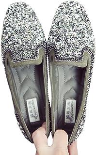 [テンカ]スクエアトゥ レディース パンプス フラットシューズ 婦人靴 ローヒール ぺたんこ 黒 緑 ブラウン カジュアル 痛くない 歩きやすい 旅行 疲れない 安定感 無地 通勤 通学 柔らかい 軽い