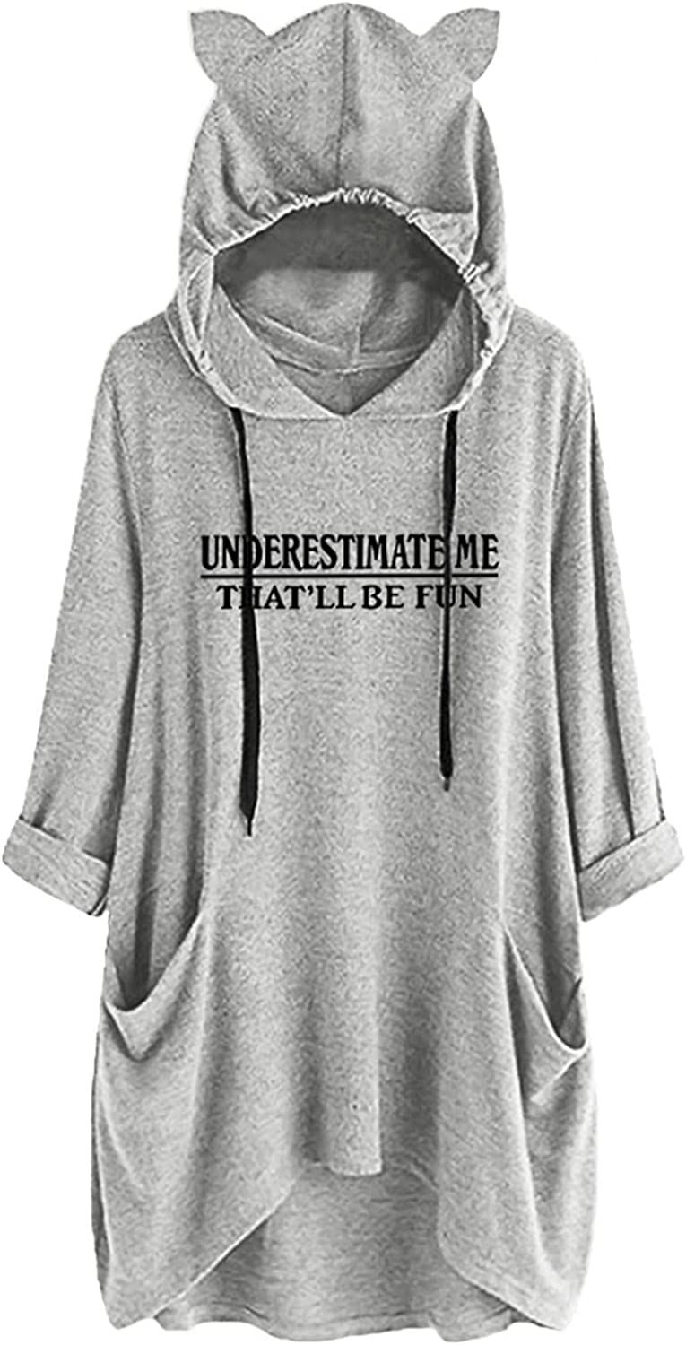 FACAIAFALO Women's Hoodie Funny Pattern Graphic Tops with Pocket Casual Shirt Cute Fashion Long Sleeve Tops