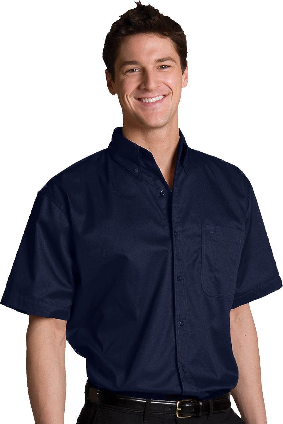 Edwards Garment Men's Big And Tall Short Sleeve Button Down Shirt_NAVY_XXXXX-Large Tall