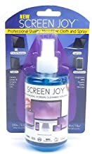 Screen Joy Computer Screen Cleaner Spray with Microfiber Cloth - Perfect for Flat Screen TVs, Tablets, Laptops and Smartphones - A Screen Cleaner and Premium Cloth Made for Today's Modern Devices