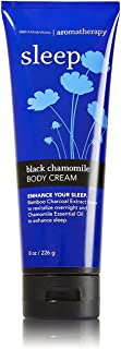 Bath & Body Works 8 Ounce Body Cream Aromatherapy Sleep Black Chamomile
