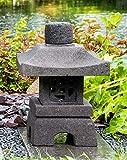 IDYL - Lanterna in pietra lavica Oki Gata I | altezza 40 cm | resistente al gelo | decorazione da giardino asiatica | Prodotto naturale | fatto a mano | Giardino d'inverno | Lanterna in pietra