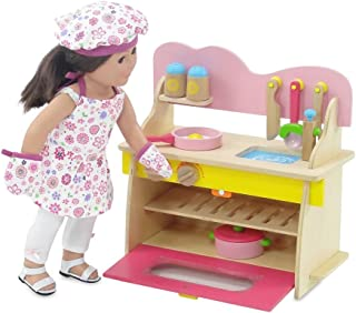 "Emily Rose 18-inch Doll Kitchen Set with Baking Oven, Stove, Sink and Doll Cookware Accessories | Fits 18"" American Girl D..."