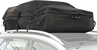 FabSelection Car Roof Bag Rooftop Cargo Carrier 30 Cubic Feet Water-Resistance Soft Cargo Bag Works on Vehicles with Side Rails, Cross Bars or No Rack Made with 600 D Oxford Cloth for Travel - Large