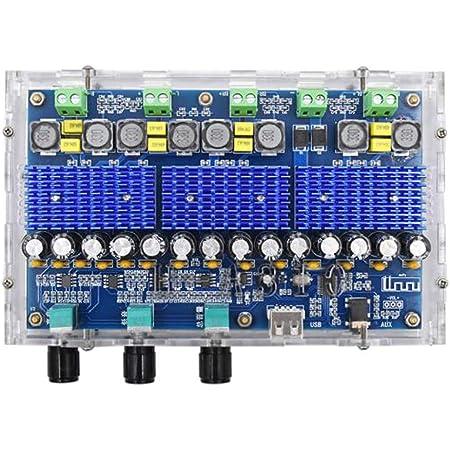2x50W Bluetooth 4.0 Audio Receiver Digital Amplifier Board-Acrylic Z0F3