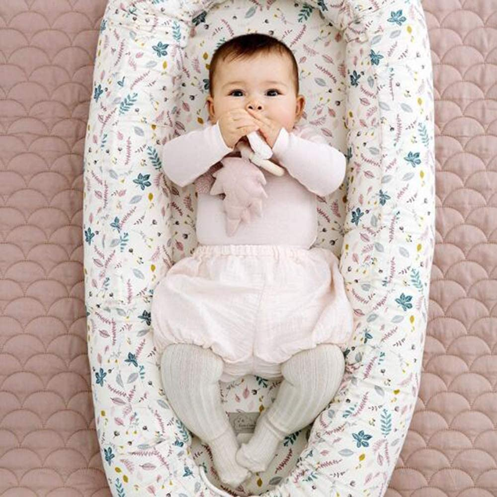 JIAN YA NA Lit bébé Portable Doux Respirant Housse Amovible pour bébé 0-24 Mois By2053