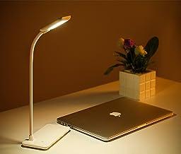 LED Desk Lamp Dimming 3 Levels Brightness Table Lamp Adjustable Gooseneck Book Light Touch Control Folding Lamp USB Rechar...