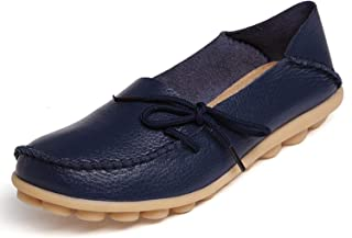 Mocassins Femme Cuir Loafers Bateau Chaussures Décontractées Plates Chaussures de Conduite Confort Casual Sandales