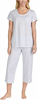 Ladies' 2-Piece Cotton Capri Pajama Set (Grey, Large)
