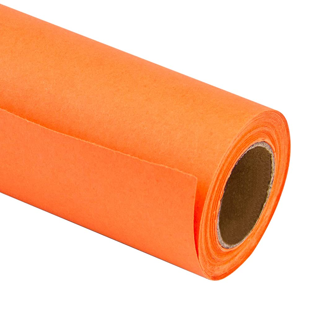 RUSPEPA Orange Kraft Wrapping Paper - 81.5 Sq Ft Heavyweight Paper for Wedding,Birthday, Shower, Congrats, and Holiday Gifts - 30Inch X 32.8Feet Per Roll
