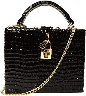 JUNfenghe Women's Embossed Beetle Print Black Banquet Tote PU Leather Evening Bracelet Handcuffs Crossbody Bag Size: 19 * 8 * 15.5cm (Color : Black)