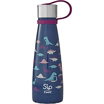 S'ip by S'well Stainless Steel Bottle-10 Fl Oz-Dino Days-Double-Layered Vacuum Insulated Keeps Food and Drinks Cold and Hot-with No Condensation-BPA Free Water Bottle, 10oz
