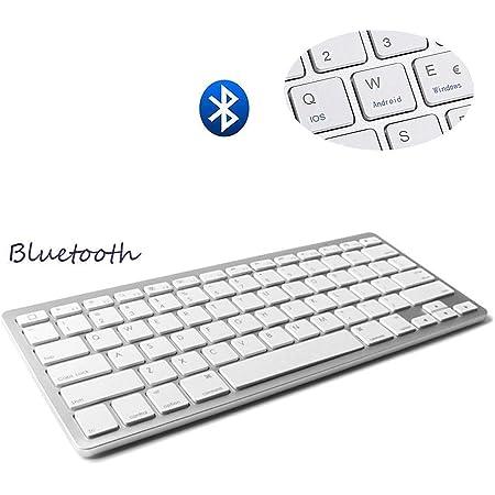 Teclado Inalámbrico Bluetooth 3.0 conexión, Marca Dingrich, Uso Universal, Ultra Delgado, Teclado portátil y Ligero, para tabletas y iPad, Compatible ...