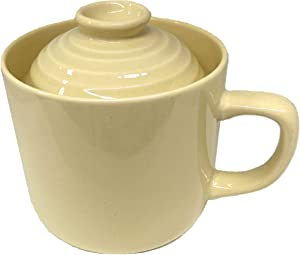 Rice Cooking Mug for 1 Cup, Microwave Rice Cooker Japan Import (Beige)