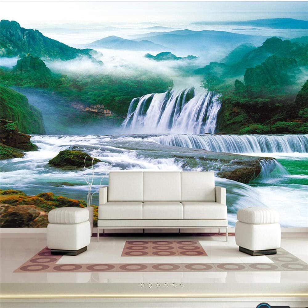 Custom Wallpaper 3D Mural Landscape and Topics on TV Water Painting Wa Wealth New sales