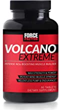 Volcano Extreme Pre-Workout Nitric Oxide Booster with NItrosigine, L-Citrulline, and CON-CRĒT for Muscle Pumps, Strength, Focus, Force Factor, 90ct