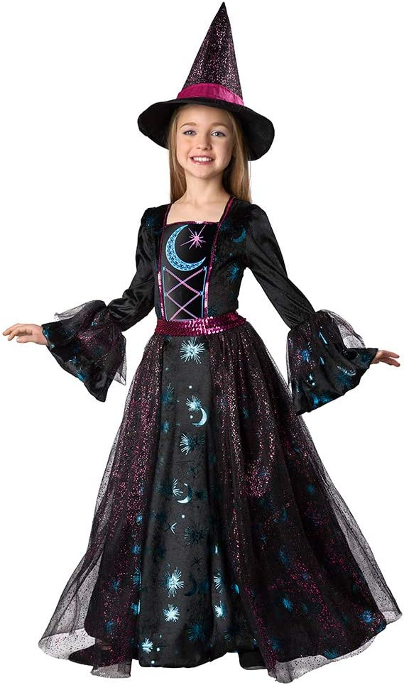 Seasons Girls Light Up Deluxe Bombing new work Rapid rise S Moonlight 4-6 Costume Witch