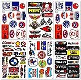 Car Auto Racer Race Drag Automotive Performance Tool Dirt Bike Bicycle ski Logo Cool Bumper Parts Accessories Brand Helmet Racing Pack 6 for Kids Teens Vinyl Graphic Decals Stickers D6729 Best4Buy