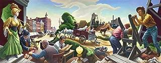 Thomas Hart Benton Giclee Art Paper Print Art Works Paintings Poster Reproduction(Joplin at The Turn of The Century) #XZZ