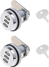 2 stks Zilver 3 Didit Wachtwoord Gecodeerde Lock Keyless Combinatie Cam Lock Beveiligingssloten Zinklegering voor Postbus ...