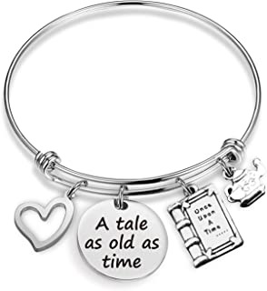 Inspirational Gift A Tale As Old As Time Bracelet The Beast Jewelry Gift Princess Bracelet Disney Jewelry Wedding Gift for Her(tale BR)