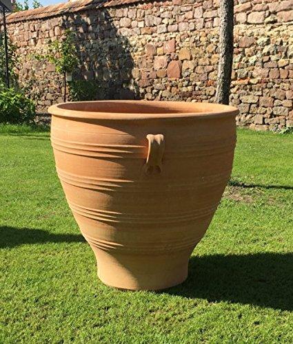 Poterie de Crète | jardinière de haute qualité | 80 cm | pots de fleurs en terre cuite faits à la main et résistants au gel | l pour jardin ou terrasse Rosa2