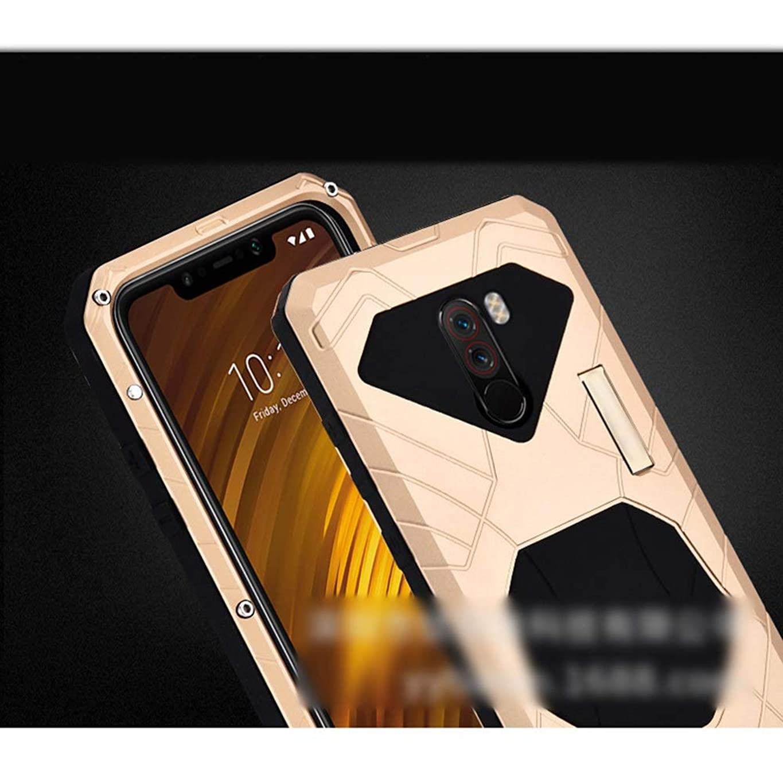 描く悩みマディソンTonglilili Xiaomi Max3、mix2s、mix2、mix、9、POCOPHONE F1、max、2,8用の3つのアンチ携帯電話シェル新しいアンチフォールメタルシリコン保護カバー電話ケース (Color : ゴールド, Edition : Max)