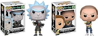Funko POP Animation Rick and Morty Show: Weaponized Rick and Weaponized Morty Toy Action Figures - 2 Piece BUNDLE