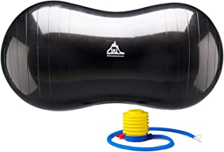 Black Mountain Products Peanut Stability Ball with 1000 lb Static Weight Capacity Pump