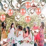 55 Stück Just Married Deko Rosegold Luftballons Set:Helium Buchstaben Folienballons Just Married Banner Girlande,Rose Gold Konfetti Latex Ballons für Bridal Shower Verlobungs Hochzeit Party Dekoration - 8