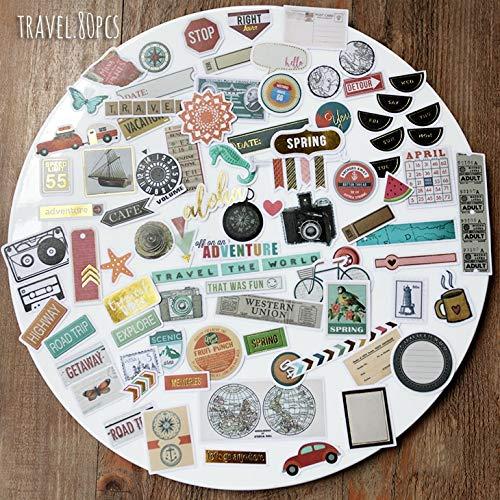 83 unids estilo de viaje pegatinas Scrapbooking/Creación de tarjetas/Diario Proyecto DIY