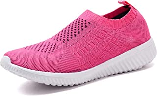 Women's Casual Walking Shoes Breathable Mesh Work Slip-on Sneakers