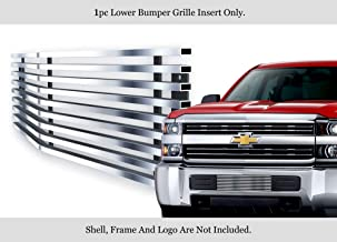 APS Compatible with 2015-2019 Chevy Silverado 2500HD 3500HD Stainless Bumper Billet Grille C66319C
