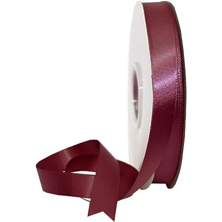 Rocca double satin ribbon 50 MT 10 mm Various Colors Favours Bow Decoration