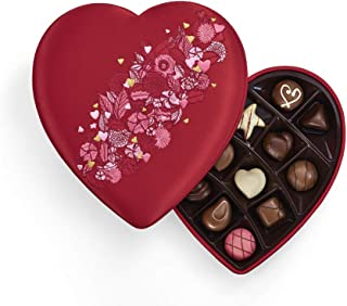 Godiva Chocolatier Godiva Chocolatier Valentines Day Fabric Heart, 14 Count Gift Box, Valentines Day Gifts for Her, 6 Ounce