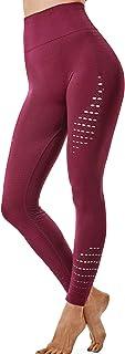 comprar comparacion FITTOO Leggings Sin Costuras Corte de Malla Mujer Pantalon Deportivo Alta Cintura Yoga Elásticos Fitness Seamless