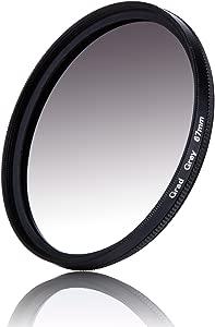 67mm Color Colour Graduated Grey Gradual Gray Filter Lens Filter For C...