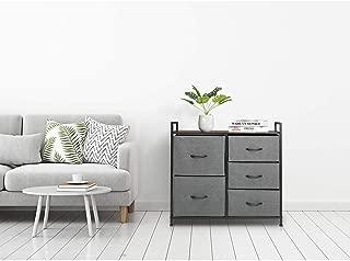Marble Field 2-Tier Wide Closet Storage Cube Dresser, Multi-Purpose Dresser Tower Organizer for Bedroom, Closets, Dorm Room, Living Room, Hallway, Grey, 39