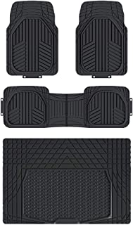 AmazonBasics 4-Piece All-Season Odorless Heavy Duty Rubber Floor Mat Set with Cargo Liner for Cars, SUVs, and Trucks