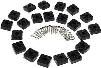 MERIGLARE 20 Pcs. Tampas de 22x22mm para Móveis Proteção de Piso de Borracha para Pés Aumento