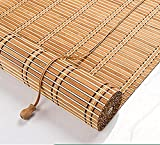 SWB Blinds Retro Bamboo Rollo Jalousine Bamboo Rollo, Ventana Rollo para Interiores, Raffrollo, Rollos de Madera, Protector Solar y supervisión Rolo Side ZUGROLLO (Size : 120x300cm/47x118in)