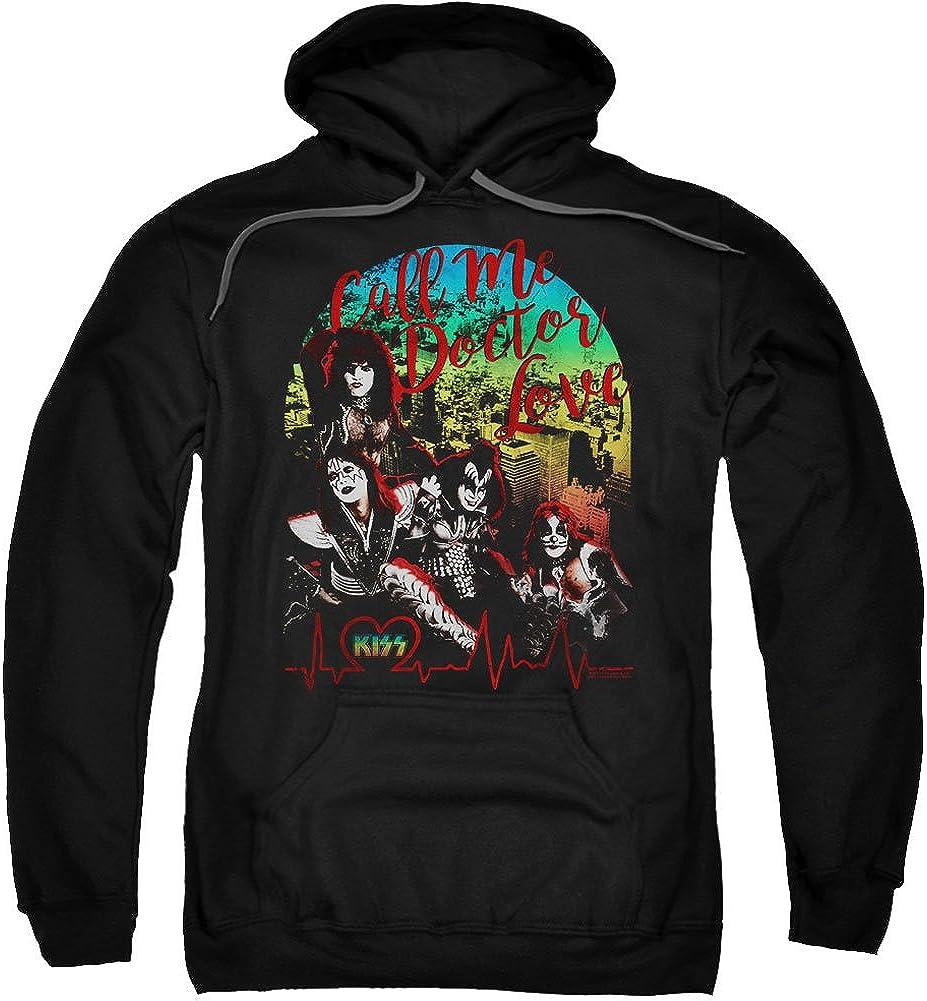 Kiss Men's Doctor Love Hooded Sweatshirt Large Black