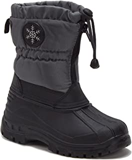 Unisex Boys & Girls Icy-67 Zipped Water Resistant Fur Lined Winter Rain & Snow Boots