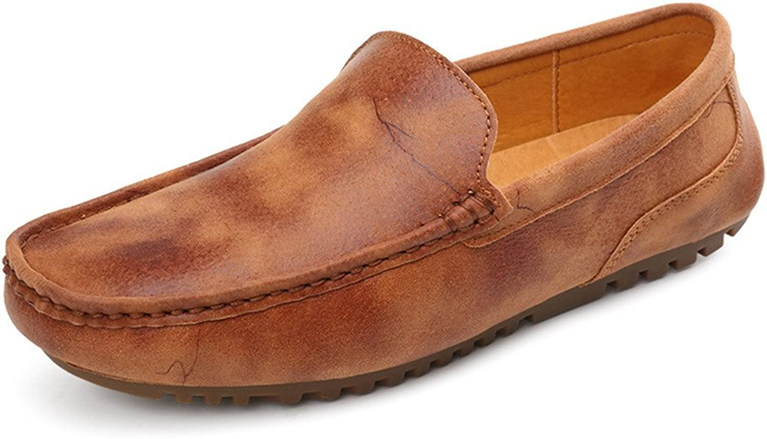 Z.L.F Oxford shoes Men Driving Penny Loafers Genuine OX Leather Boat Moccasins Flat Soft Sole Formal shoes