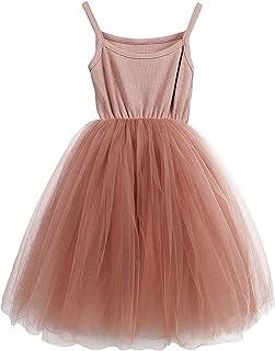 فستان من LYXIOF للفتيات الصغار توتو بأكمام طويلة / بدون أكمام الأميرة للرضع من التل