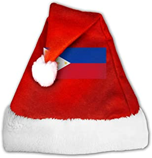 SAWUSFEI Flag of The Philippines Velvet Christmas Hat with Plush Trim &and Comfort Liner